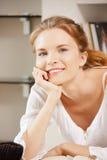Adolescente feliz y sonriente Fotografía de archivo