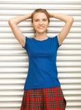 Adolescente feliz y sonriente Foto de archivo libre de regalías