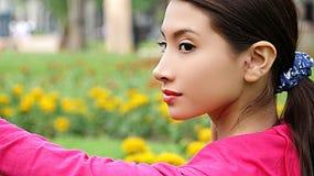 Adolescente femenino al aire libre Fotos de archivo