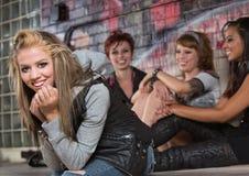 Adolescente femenino alegre Foto de archivo libre de regalías