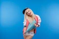 Adolescente femenino alegre Imagen de archivo libre de regalías