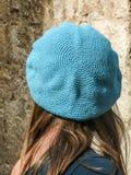 Adolescente femenino con el casquillo azul Fotos de archivo libres de regalías