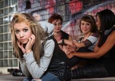 Adolescente femenino decepcionado Fotografía de archivo