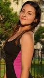 Adolescente femenino delgado apto Imagenes de archivo