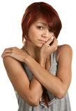 Adolescente femenino deprimido Fotos de archivo