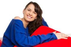 Adolescente femenino feliz Fotografía de archivo
