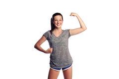 Adolescente femenino fuerte Imagen de archivo libre de regalías
