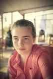 Adolescente femenino hermoso Foto de archivo