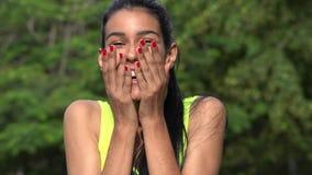 Adolescente femenino hermoso sorprendida Imagen de archivo libre de regalías