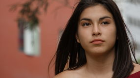 Adolescente femenino hispánico Imagen de archivo