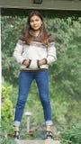 Adolescente femenino joven peruano Imagenes de archivo