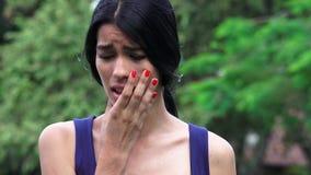 Adolescente femenino preocupante Fotografía de archivo libre de regalías