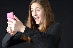Teléfono celular selfy Fotos de archivo libres de regalías