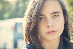 Adolescente femenino sensible Foto de archivo libre de regalías