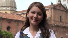 Adolescente femenino sonriente Imagen de archivo