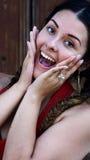 Adolescente femenino sorprendida emocionado Fotos de archivo libres de regalías