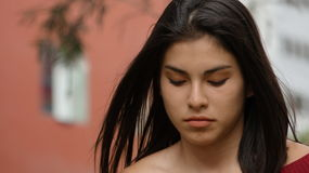 Adolescente femenino triste Foto de archivo