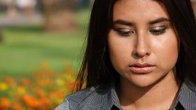 Adolescente femenino y confusión Foto de archivo