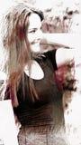 Adolescente femenino y felicidad Imagen de archivo