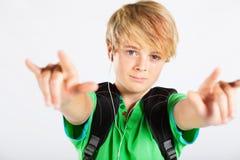 Adolescente freddo Fotografie Stock