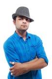 Adolescente fresco con un sombrero - aislado Imagen de archivo libre de regalías