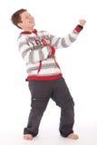Adolescente fresco que toca la guitarra del aire Imagen de archivo libre de regalías