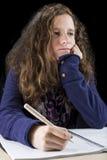 Adolescente haciendo su preparación Imagenes de archivo