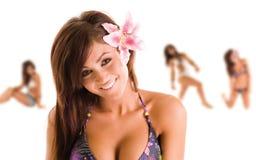 Adolescente havaiano foto de stock