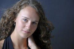 Adolescente hermoso aislado Fotos de archivo
