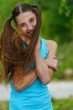 Adolescente hermoso con de largo Fotografía de archivo