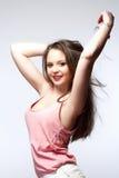 Adolescente hermoso con el pelo largo de Brown Fotos de archivo libres de regalías