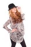 Adolescente hermoso con el pelo rubio largo Foto de archivo