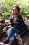 Adolescente hermoso con el septo en nariz Fotos de archivo