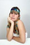 Adolescente hermoso con la venda 1 Foto de archivo libre de regalías