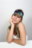 Adolescente hermoso con la venda 2 Fotografía de archivo
