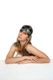 Adolescente hermoso con la venda 5 Foto de archivo libre de regalías