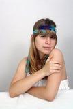 Adolescente hermoso con la venda 3 Fotos de archivo
