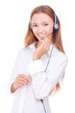 Adolescente hermoso con los auriculares Foto de archivo