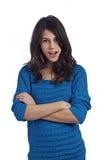 Adolescente hermoso con los brazos cruzados Imagenes de archivo