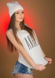Adolescente hermoso de la muchacha en la cabeza Imagen de archivo