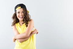 Adolescente hermoso de las risas Fotografía de archivo