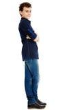 Adolescente hermoso de moda con los brazos doblados Fotografía de archivo