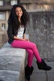 Adolescente hermoso del afroamericano Foto de archivo libre de regalías