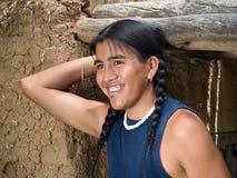 Adolescente hermoso del nativo americano Foto de archivo