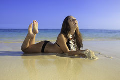 Adolescente hermoso en bikini Foto de archivo libre de regalías