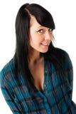 Adolescente hermoso en blanco Fotos de archivo