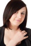 Adolescente hermoso en blanco Foto de archivo libre de regalías