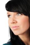 Adolescente hermoso en blanco Imagen de archivo