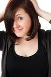 Adolescente hermoso en blanco Imagenes de archivo