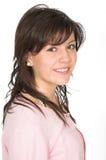 Adolescente hermoso en color de rosa Imagen de archivo